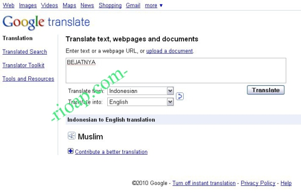 Bejatnya Google Translate