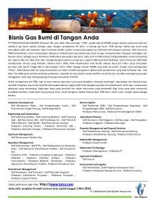 Lowongan Perusahaan Gas Negara 2010
